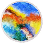 Abstract 070411 Round Beach Towel