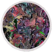 Abstract 070915 Round Beach Towel