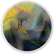 Abstract 071810 Round Beach Towel