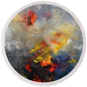 Abstract 0805 Round Beach Towel