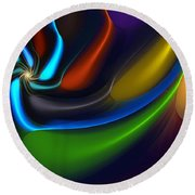Abstract 080510 Round Beach Towel