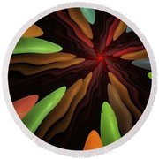 Abstract 080610 Round Beach Towel