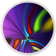 Abstract 080610a Round Beach Towel