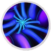 Abstract 080610b Round Beach Towel
