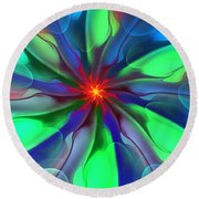 Abstract 080610c Round Beach Towel
