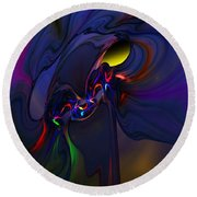 Abstract 080710 Round Beach Towel