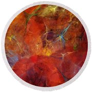 Abstract 081310 Round Beach Towel