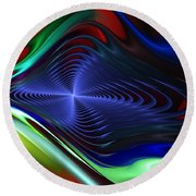 Abstract 081510 Round Beach Towel