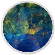Abstract 081610 Round Beach Towel