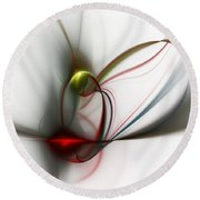 Abstract 082610 Round Beach Towel