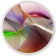 Abstract 082710 Round Beach Towel