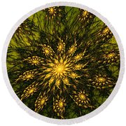 Abstract 090110 Round Beach Towel