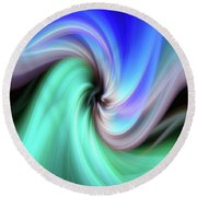 Abstract 0902 B Round Beach Towel
