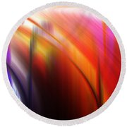 Abstract 0902 C Round Beach Towel