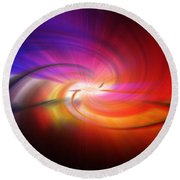 Abstract 0902 D Round Beach Towel