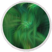 Abstract 0902 G Round Beach Towel