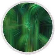 Abstract 0902 H Round Beach Towel