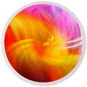 Abstract 0902 L Round Beach Towel