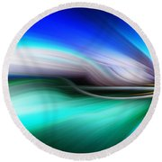Abstract 0902 M Round Beach Towel