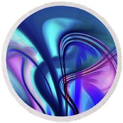 Abstract 0902 N Round Beach Towel