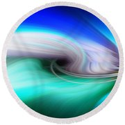 Abstract 0902 P Round Beach Towel