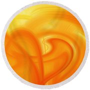Abstract 0902 Q  Round Beach Towel