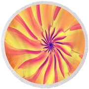 Abstract 090510 Round Beach Towel