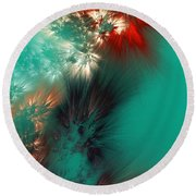 Abstract 090710 Round Beach Towel