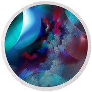 Abstract 0971711 Round Beach Towel