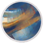 Abstract - 1 - Emp - Seattle Round Beach Towel