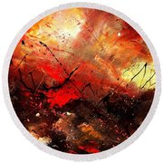 Abstract 100202 Round Beach Towel