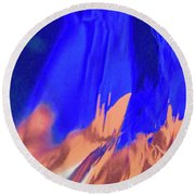 Abstract 10058 Round Beach Towel