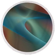 Abstract 101311d Round Beach Towel