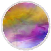 Abstract 101410 Round Beach Towel