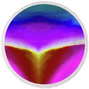 Abstract 101x By Nixo Round Beach Towel