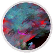 Abstract 102210 Round Beach Towel