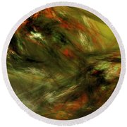 Abstract 102910a Round Beach Towel
