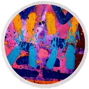 Abstract 10316 - Cropped Round Beach Towel