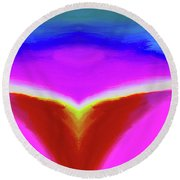 Abstract 103x By Nixo Round Beach Towel