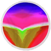 Abstract 104x By Nixo Round Beach Towel