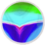 Abstract 106x By Nixo Round Beach Towel