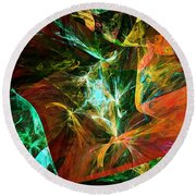 Abstract 110810 Round Beach Towel