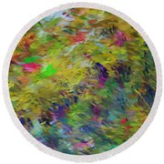 Abstract 111510 Round Beach Towel
