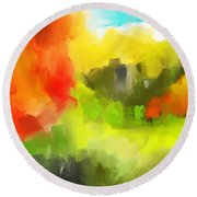 Abstract 112210 Round Beach Towel