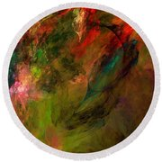 Abstract 112210a Round Beach Towel