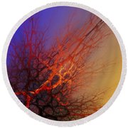 Abstract 112810a Round Beach Towel