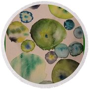 Greens Round Beach Towel
