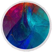 Abstract 120610 Round Beach Towel