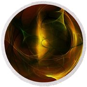 Abstract 120610a Round Beach Towel