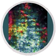 Abstract 124 Round Beach Towel
